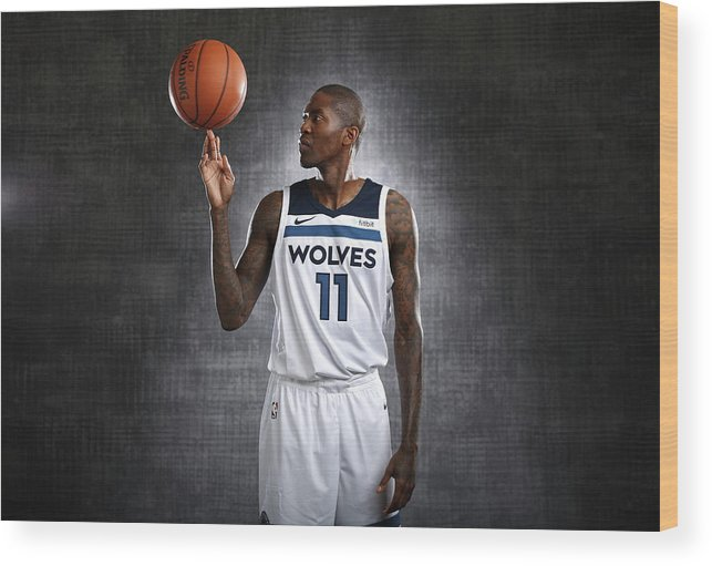 Media Day Wood Print featuring the photograph Jamal Crawford by David Sherman