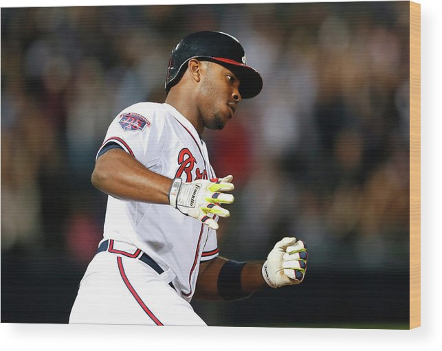 Atlanta Wood Print featuring the photograph Justin Upton and Jason Heyward by Kevin C. Cox