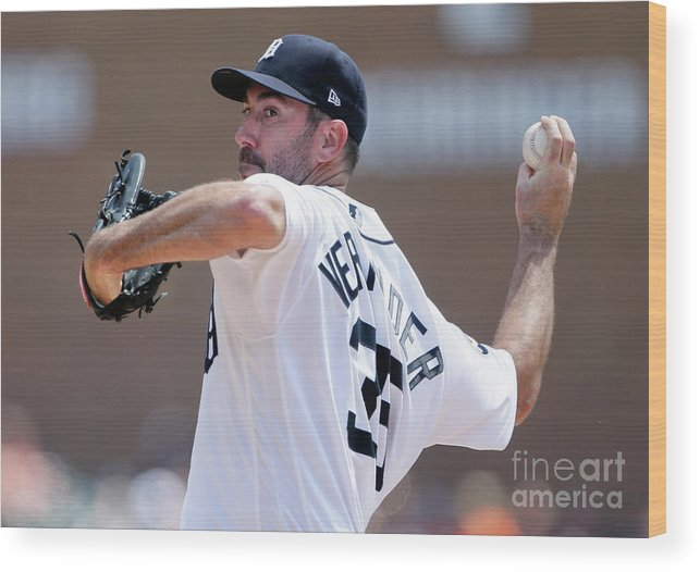 Second Inning Wood Print featuring the photograph Justin Verlander by Duane Burleson