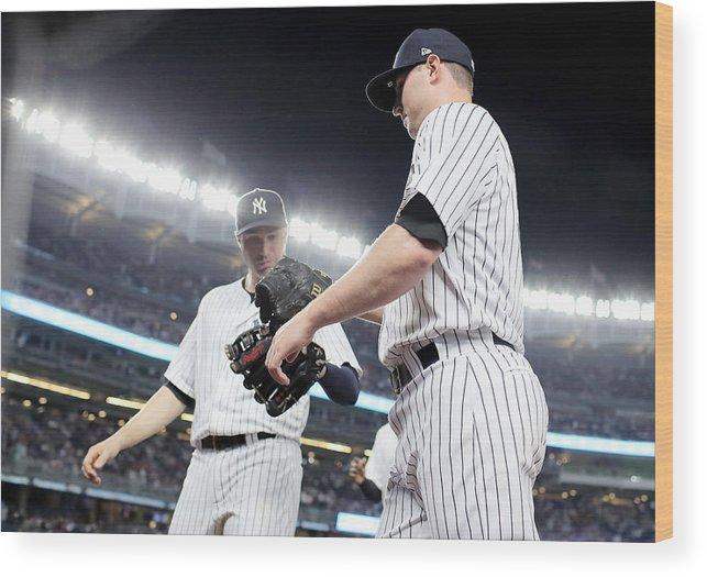 Three Quarter Length Wood Print featuring the photograph Kansas City Royals v New York Yankees by Elsa