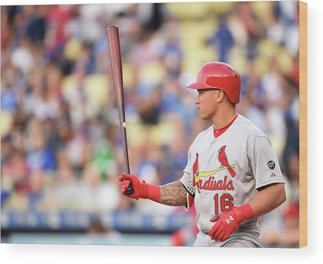 St. Louis Cardinals Wood Print featuring the photograph Kolten Wong by Harry How