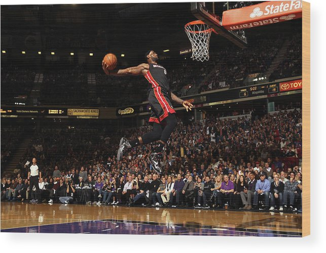 Nba Pro Basketball Wood Print featuring the photograph Lebron James by Ezra Shaw