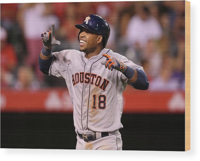 People Wood Print featuring the photograph Luis Valbuena by Stephen Dunn
