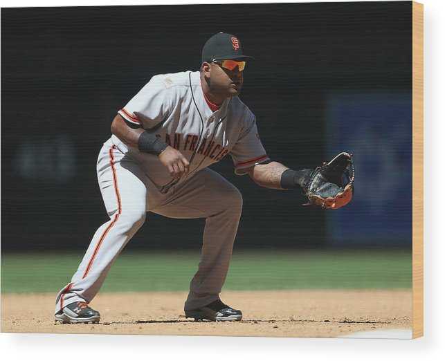 Pablo Sandoval Wood Print featuring the photograph Pablo Sandoval by Christian Petersen