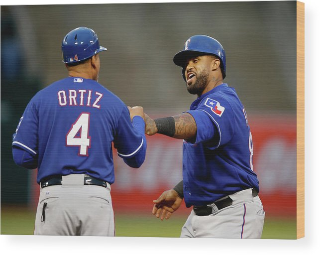 Three Quarter Length Wood Print featuring the photograph Prince Fielder by Ezra Shaw