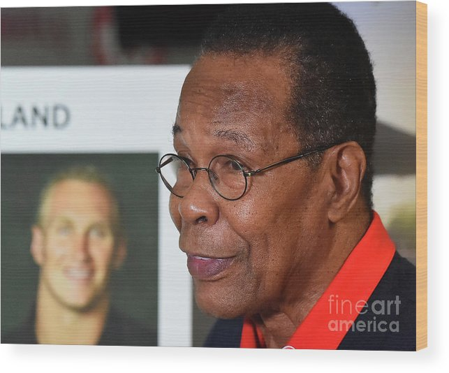 People Wood Print featuring the photograph Rod Carew by Jayne Kamin-oncea