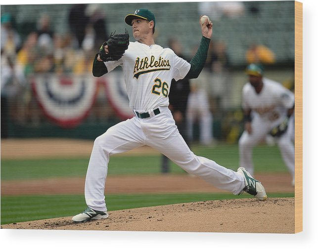 Second Inning Wood Print featuring the photograph Scott Kazmir by Thearon W. Henderson
