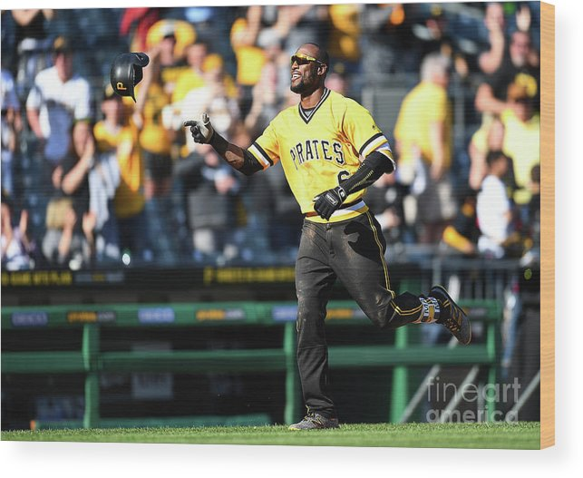 People Wood Print featuring the photograph Starling Marte by Joe Sargent
