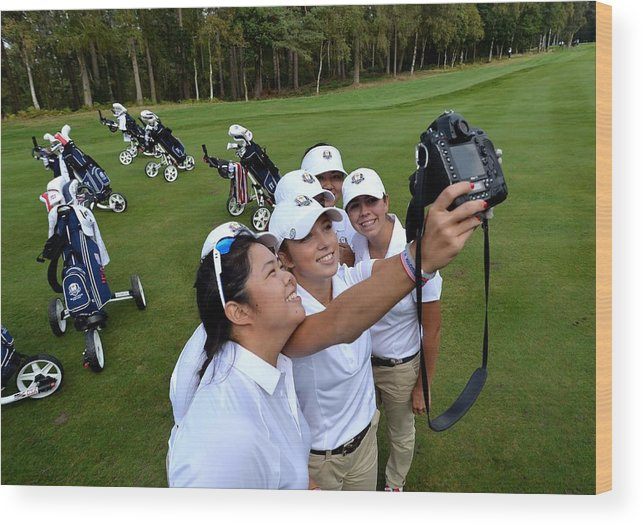 Kristen Gillman Wood Print featuring the photograph The 2014 Junior Ryder Cup - Previews by Mark Runnacles