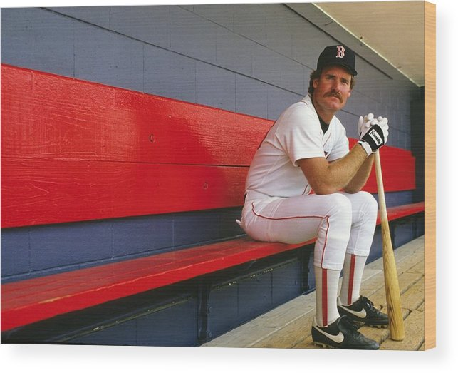 1980-1989 Wood Print featuring the photograph Wade Boggs by Ronald C. Modra/sports Imagery