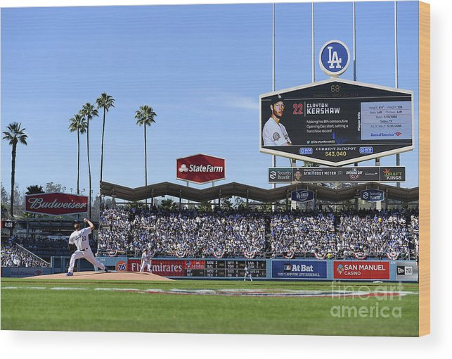 People Wood Print featuring the photograph Clayton Kershaw by Harry How