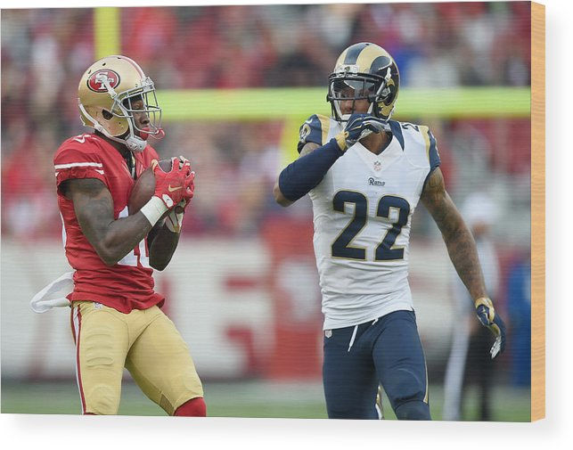 Levi's Wood Print featuring the photograph St Louis Rams v San Francisco 49ers by Thearon W. Henderson