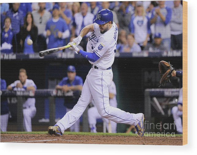 People Wood Print featuring the photograph Eric Hosmer by Ed Zurga