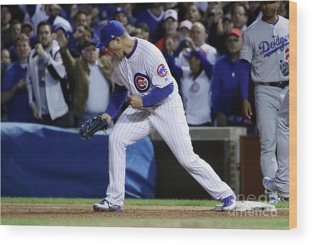 Championship Wood Print featuring the photograph Anthony Rizzo by Jonathan Daniel
