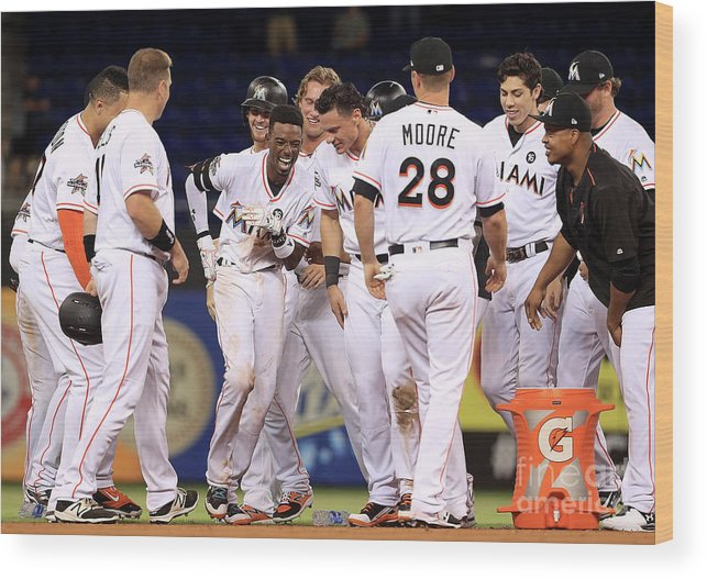 People Wood Print featuring the photograph Dee Gordon by Mike Ehrmann