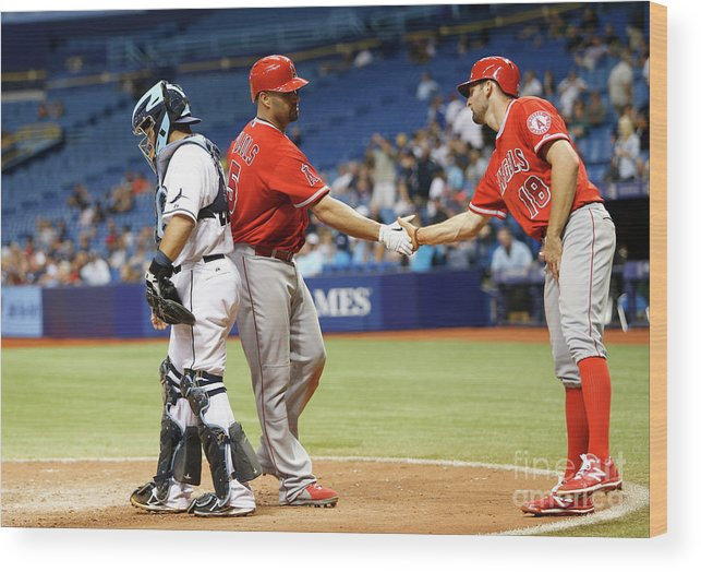 Ninth Inning Wood Print featuring the photograph Albert Pujols by Brian Blanco