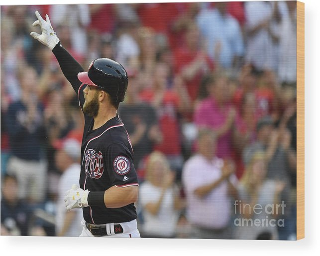 People Wood Print featuring the photograph Bryce Harper by Patrick Mcdermott