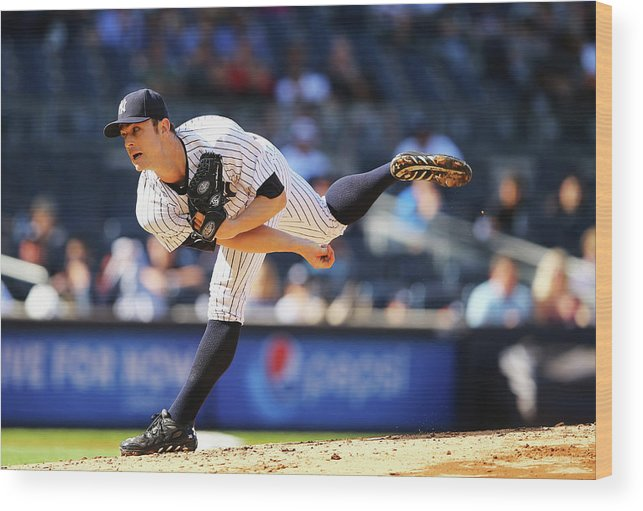 Ninth Inning Wood Print featuring the photograph David Robertson by Al Bello