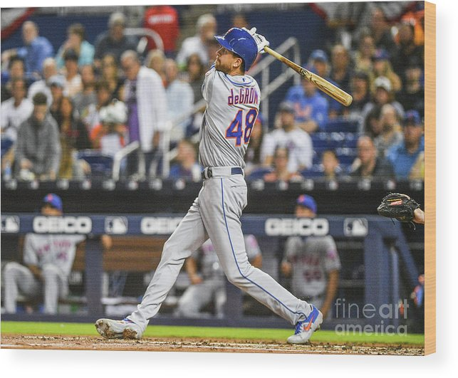 Jacob Degrom Wood Print featuring the photograph Jacob Degrom by Mark Brown