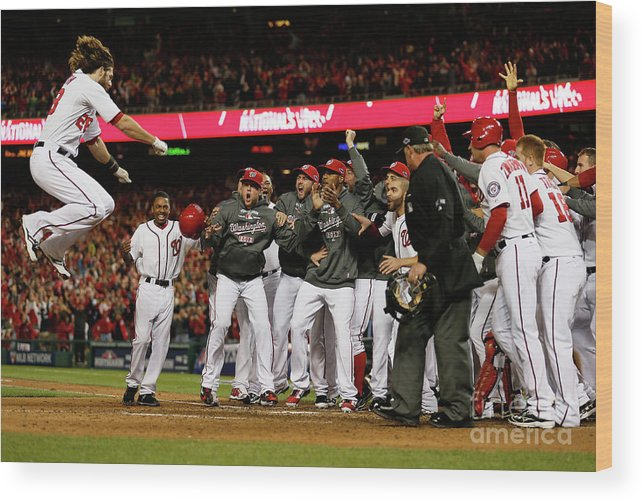 Playoffs Wood Print featuring the photograph Jayson Werth by Rob Carr