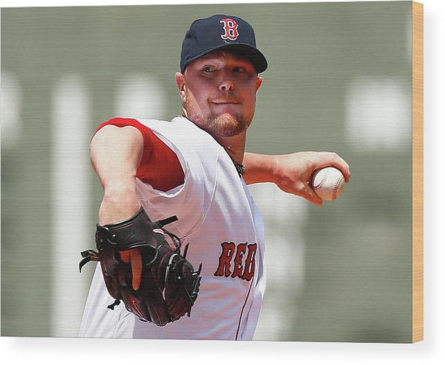 American League Baseball Wood Print featuring the photograph Jon Lester by Jared Wickerham
