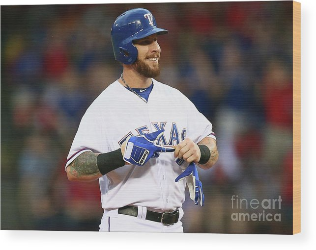 Second Inning Wood Print featuring the photograph Josh Hamilton by Ronald Martinez