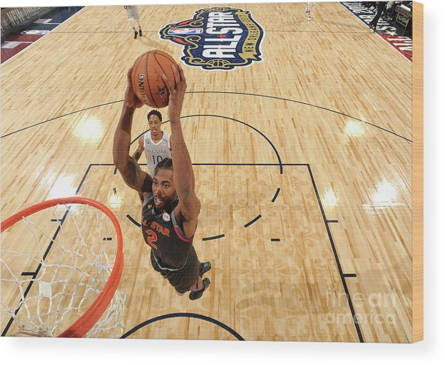 Event Wood Print featuring the photograph Kawhi Leonard by Andrew D. Bernstein