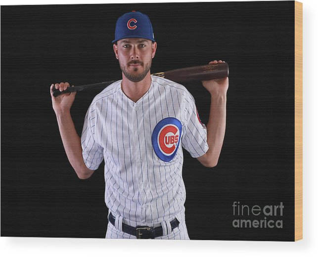 Media Day Wood Print featuring the photograph Kris Bryant by Gregory Shamus