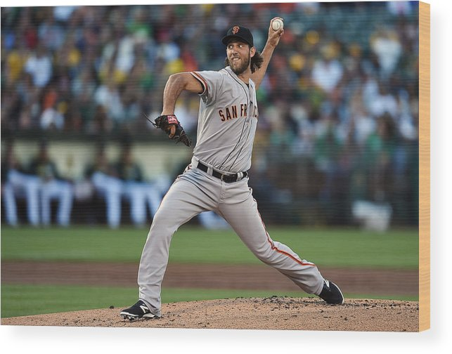 American League Baseball Wood Print featuring the photograph Madison Bumgarner by Thearon W. Henderson