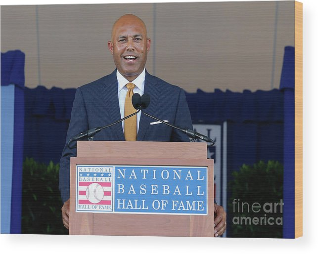People Wood Print featuring the photograph Mariano Rivera by Jim Mcisaac