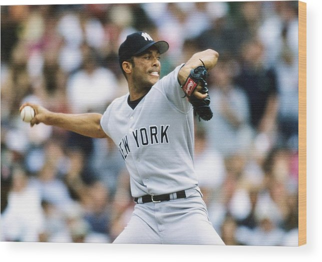 American League Baseball Wood Print featuring the photograph Mariano Rivera by Ronald C. Modra/sports Imagery