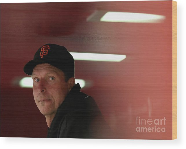 People Wood Print featuring the photograph Randy Johnson by Christian Petersen