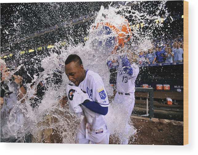Salvador Perez Diaz Wood Print featuring the photograph Salvador Perez by Ed Zurga
