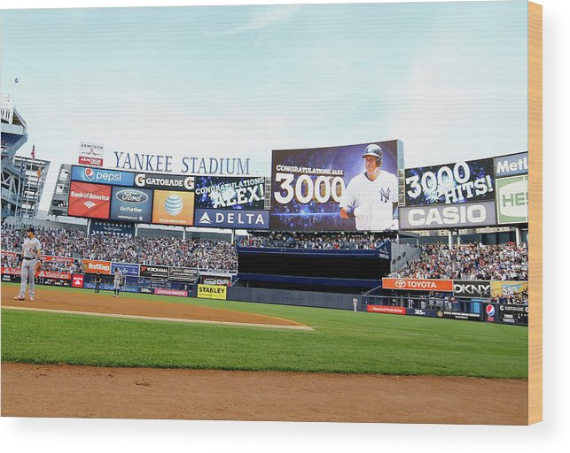 People Wood Print featuring the photograph Alex Rodriguez by Al Bello