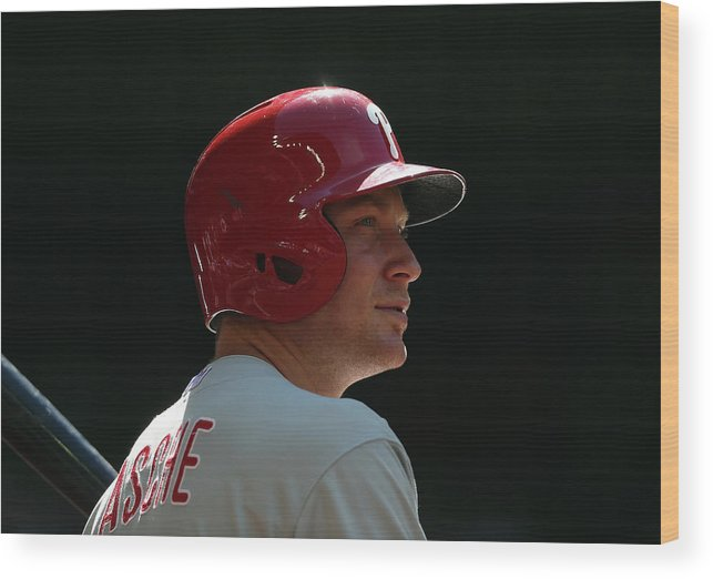 Cody Asche Wood Print featuring the photograph Cody Asche by Christian Petersen