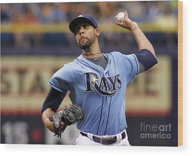 David Price Wood Print featuring the photograph David Price by Brian Blanco