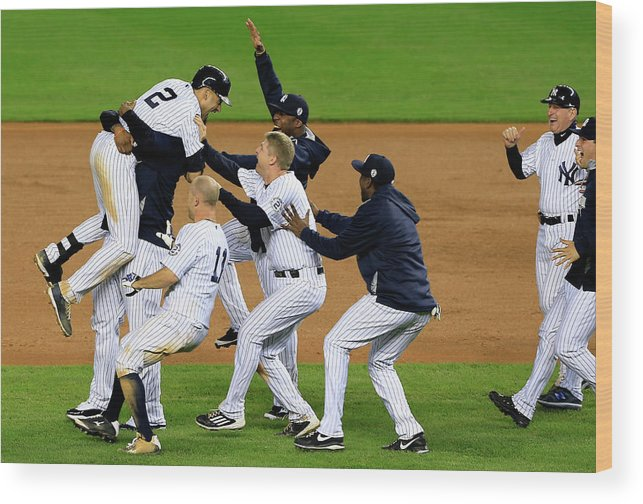 Ninth Inning Wood Print featuring the photograph Derek Jeter by Alex Trautwig