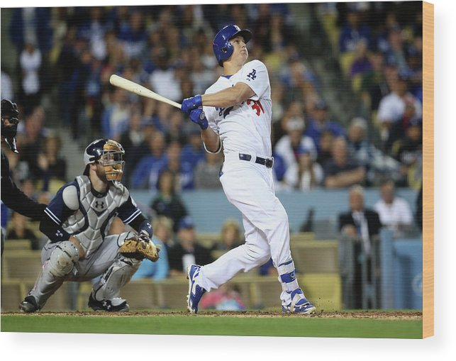People Wood Print featuring the photograph Joc Pederson by Stephen Dunn