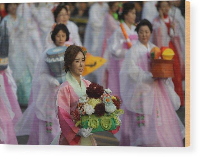 People Wood Print featuring the photograph Lantern Festival Celebrates Buddha's Birthday by Chung Sung-Jun