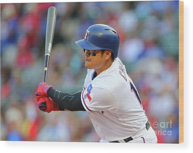 People Wood Print featuring the photograph Shin-soo Choo by Rick Yeatts