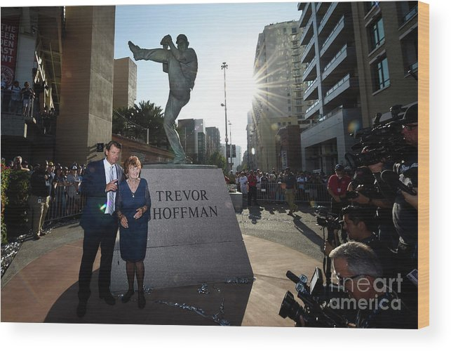 People Wood Print featuring the photograph Trevor Hoffman by Denis Poroy
