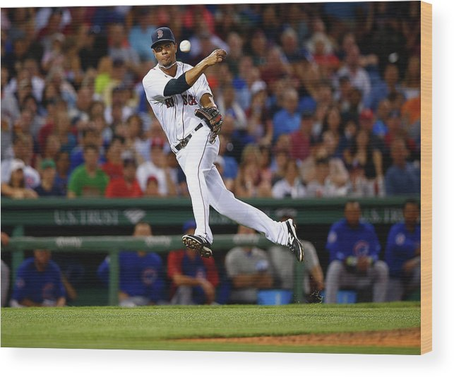 American League Baseball Wood Print featuring the photograph Xander Bogaerts by Jared Wickerham