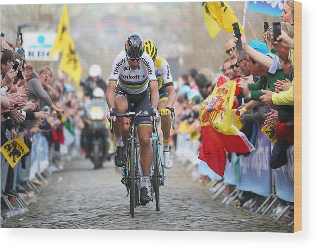 Belgium Wood Print featuring the photograph 100th Tour of Flanders by Bryn Lennon