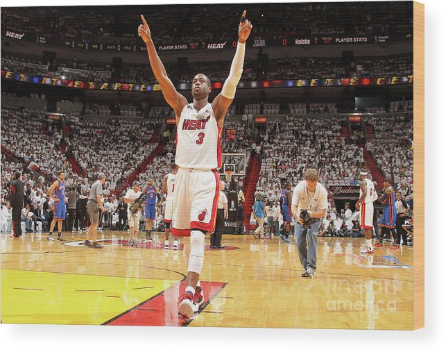 Playoffs Wood Print featuring the photograph Dwyane Wade by Nathaniel S. Butler