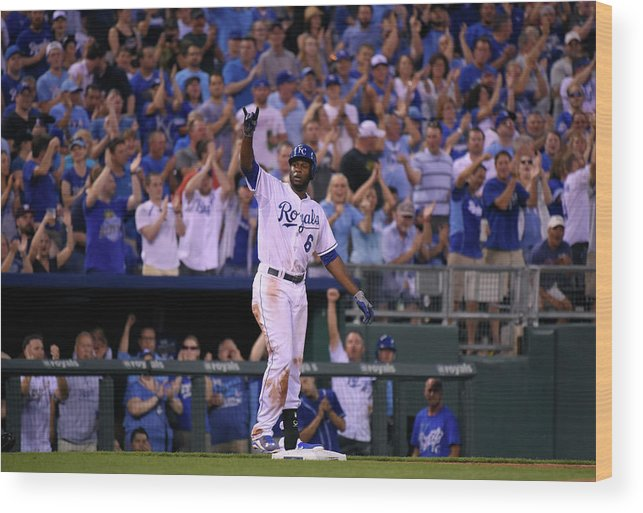 People Wood Print featuring the photograph Lorenzo Cain by Ed Zurga