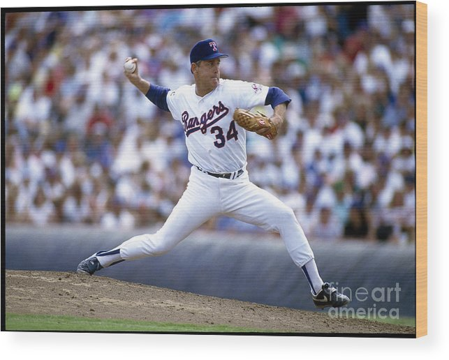 People Wood Print featuring the photograph Nolan Ryan by Rich Pilling