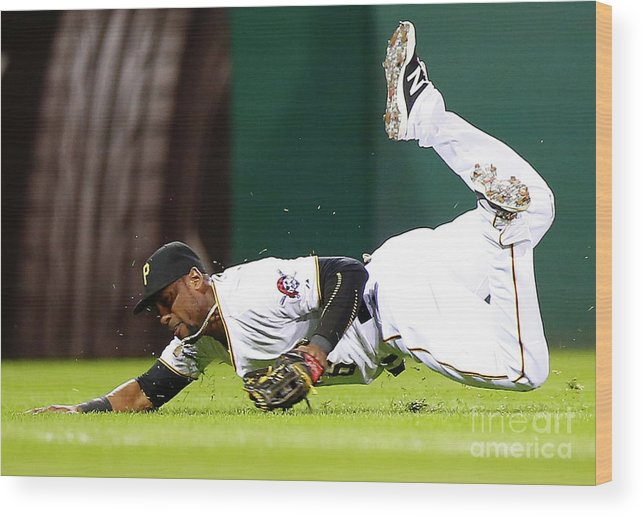 People Wood Print featuring the photograph Starling Marte by Jared Wickerham