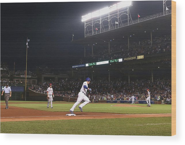 National League Baseball Wood Print featuring the photograph Anthony Rizzo by Jonathan Daniel