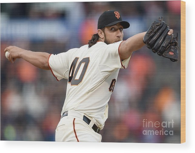 San Francisco Wood Print featuring the photograph Madison Bumgarner by Thearon W. Henderson