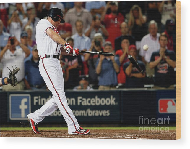 Atlanta Wood Print featuring the photograph Chipper Jones by Kevin C. Cox